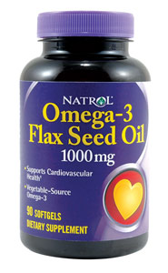 Flaxseed Oil 1000 mg 120 Sofgel